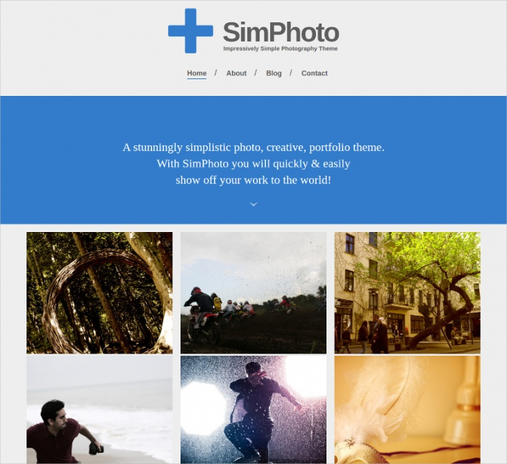 minimal photo wordpress theme