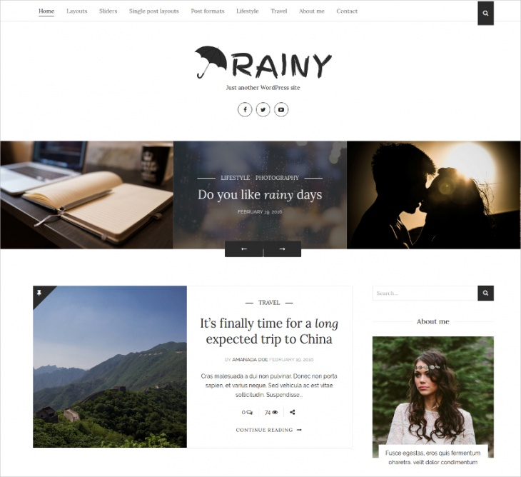 personal wordpress blog theme