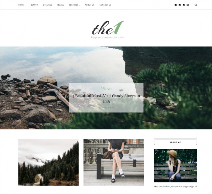 photography blog theme