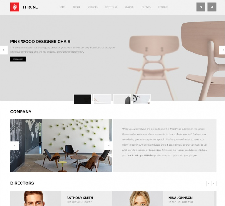 one page minimal wordpress theme