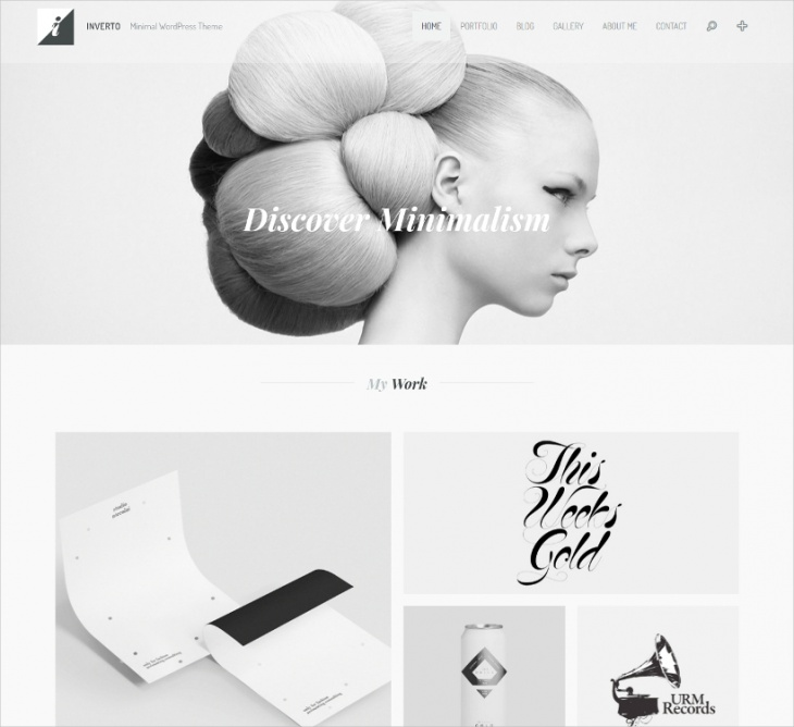 inverto minimal wp theme