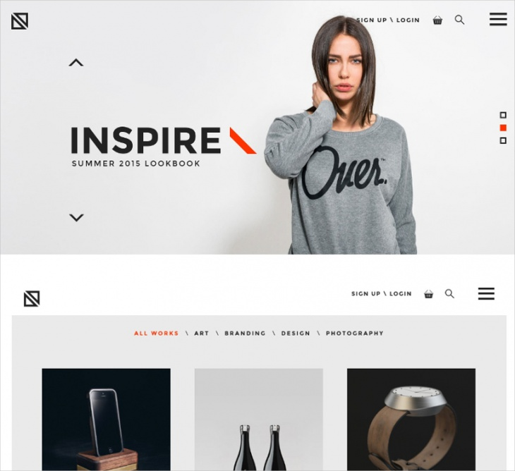 creative minimal wordpress theme