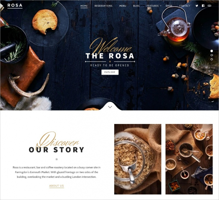 exquisite restaurant wordpress theme