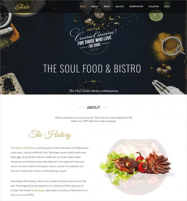 professional restaurant template