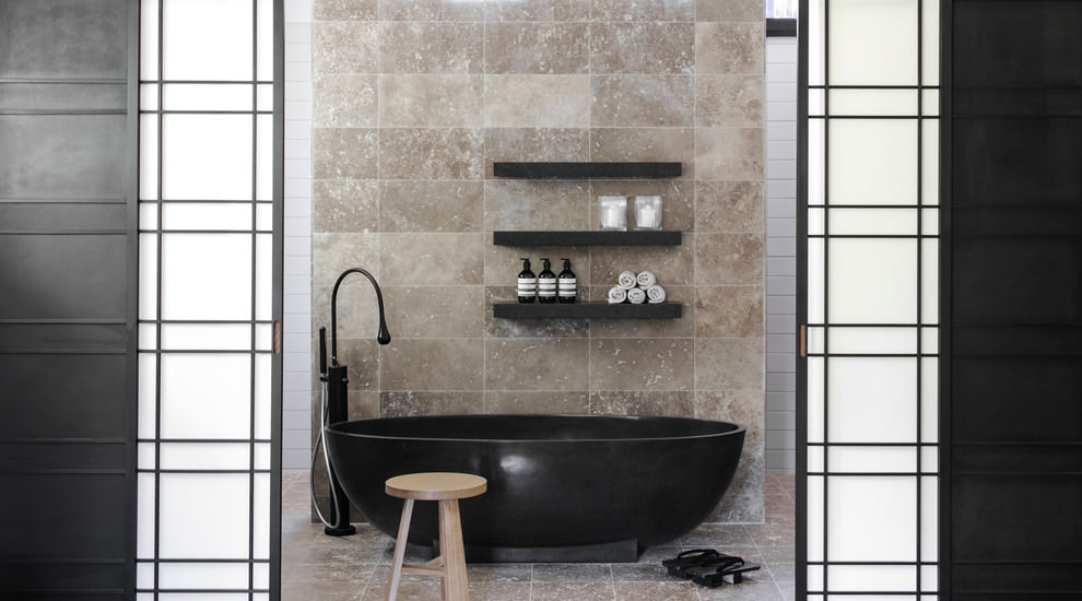 Fantastic Rogerseller Strap Shower Tray Matte Black  Rogerseller
