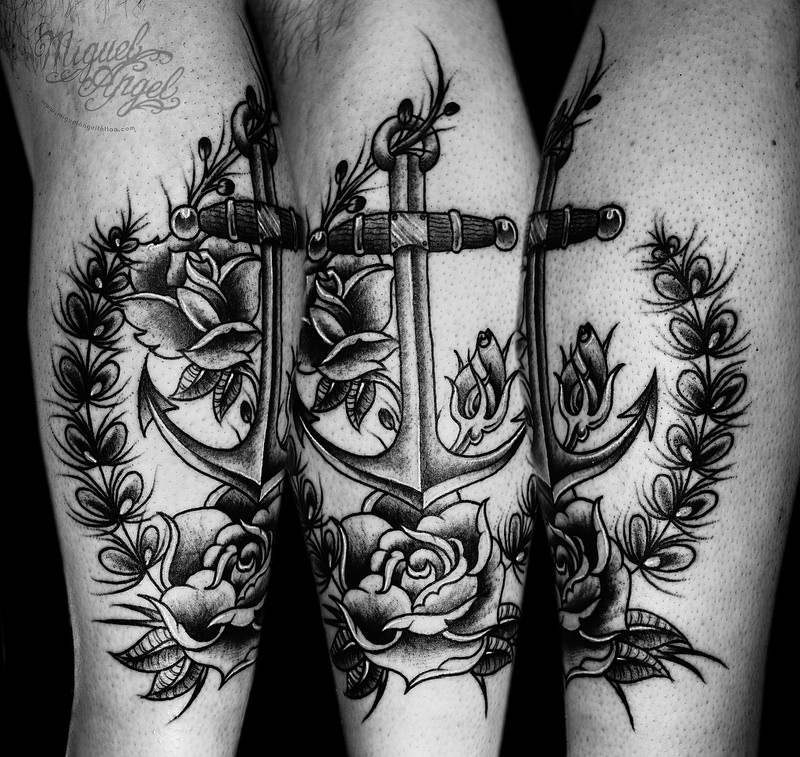 Miguel Angel Anchor Tattoo Design
