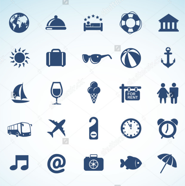 Pack of Holiday Travel Icons
