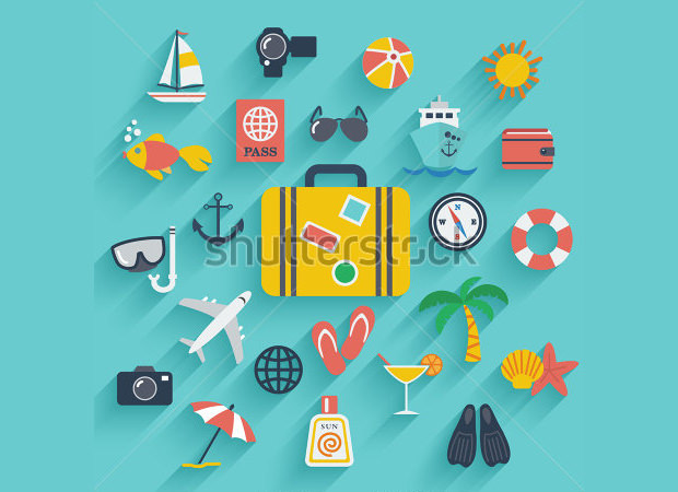 Summer Vacation Travelling Holiday set