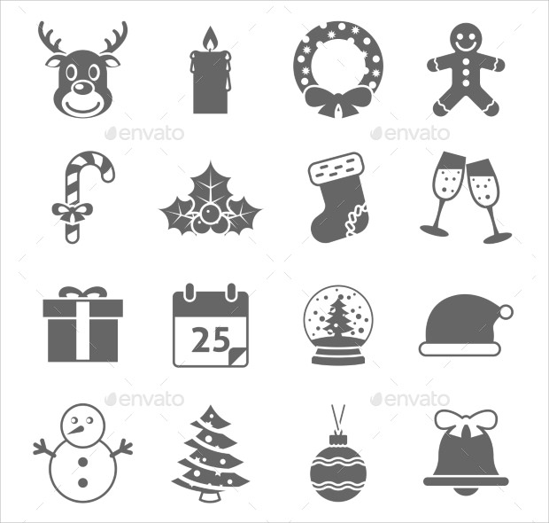 Beautiful Variable Sets of Christmas Holiday Icons