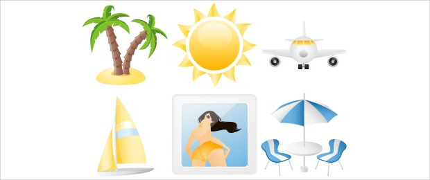 Summer Joy Vacation Icons
