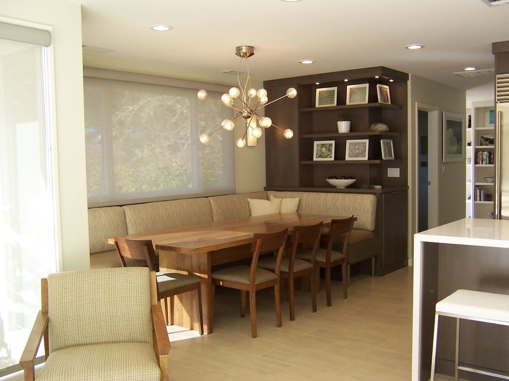 Contemporary dining room with beautiful dining set