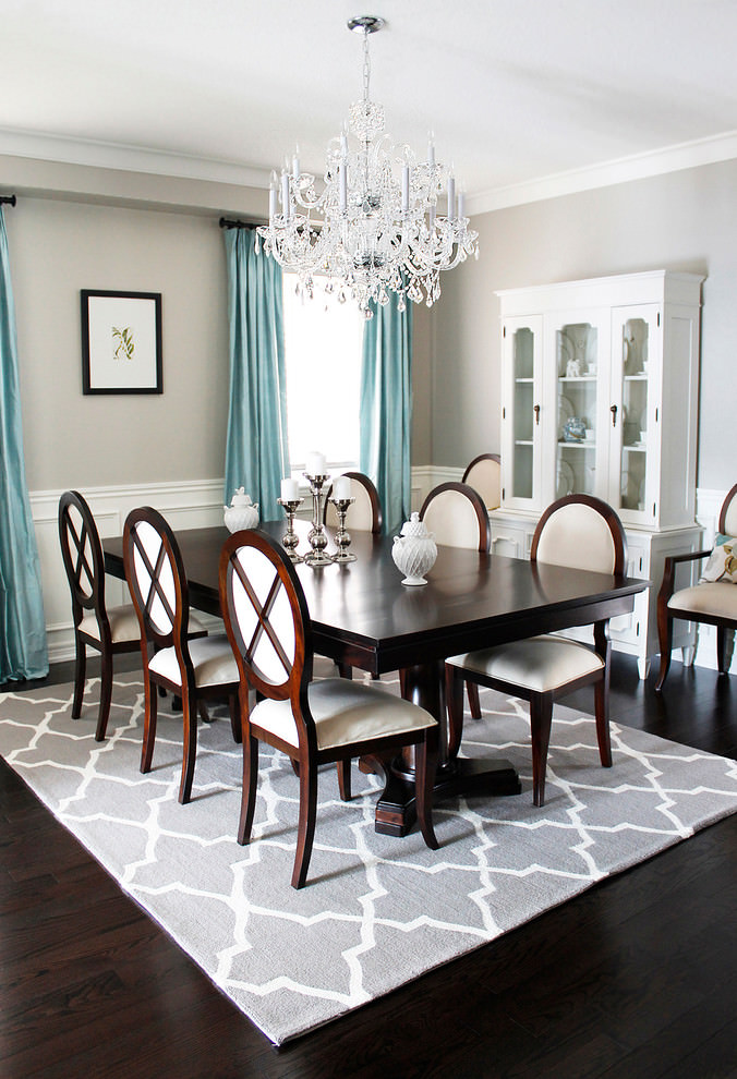 Royal dining table in dining room