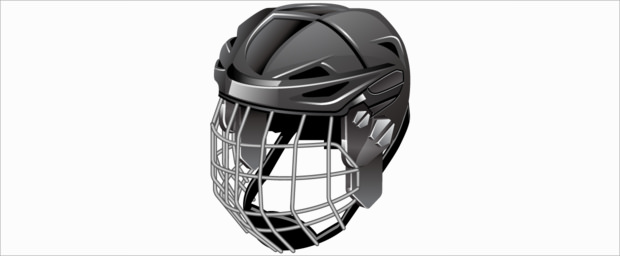 cool hockey helmet logo