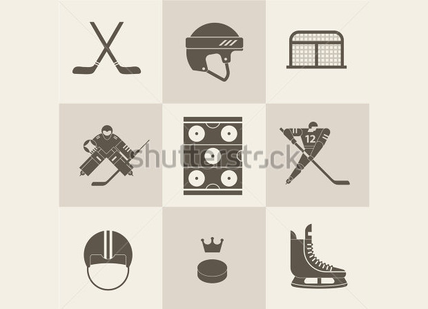 Hockey Themed Ideology Illistration.