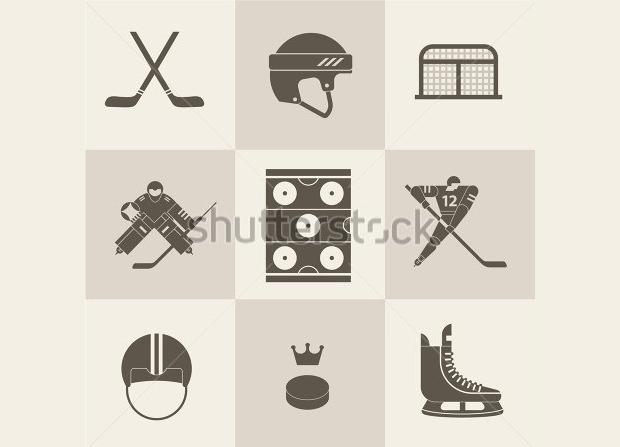 hockey themed ideology illistration