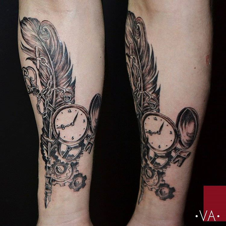 Elite Steampunk Tattoo Design