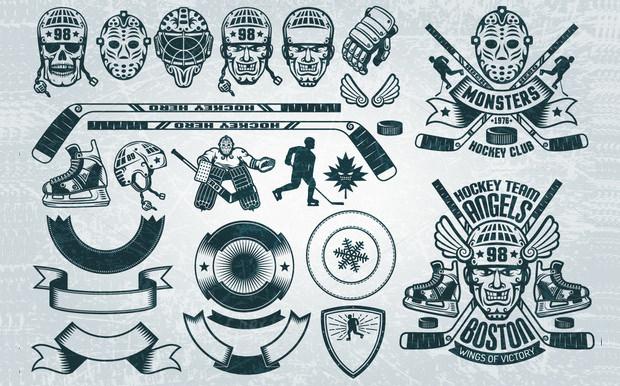 complete hockey buddle icons