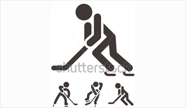 Hockey Players Silhouette Icon
