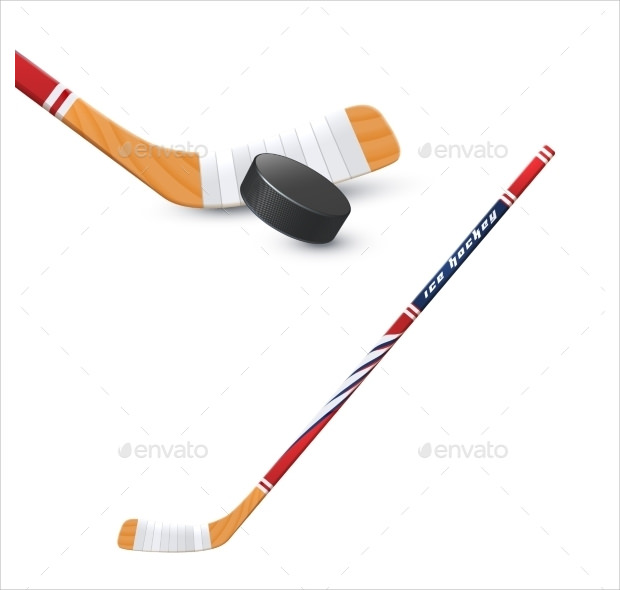 Collection Of Hockey Stick And Punk