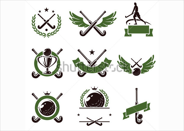 Hockey Fiels Label and Icons