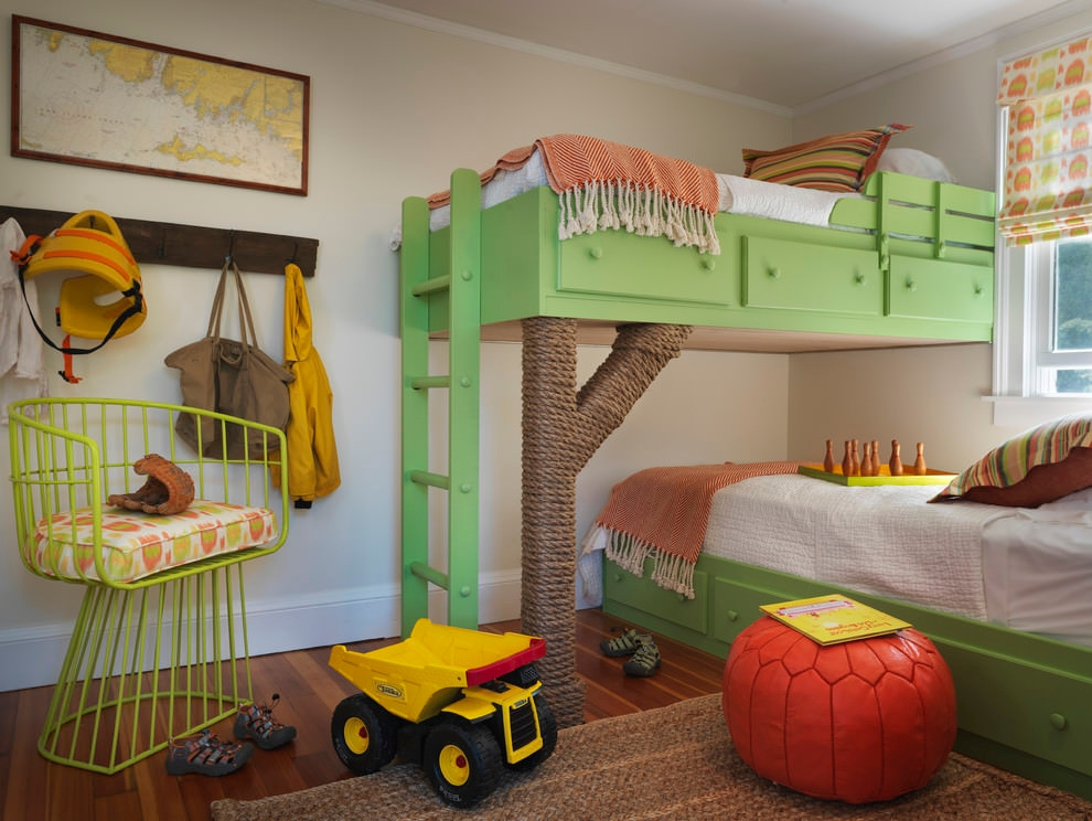 Awesome beach style kids bedroom