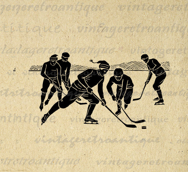 pictorical illistration of filed hockey players