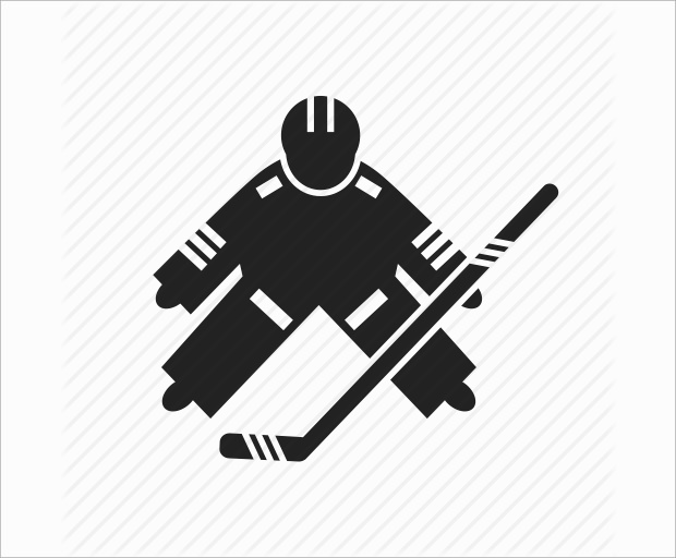 hockey goal keeper illistration