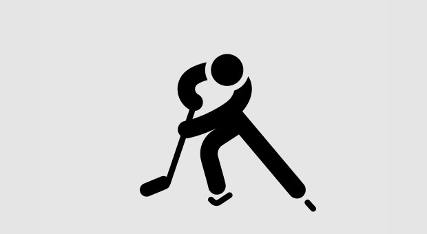 Single Hockey Player Logo