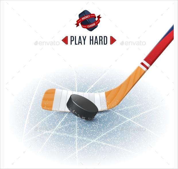 single hockey stick with punk
