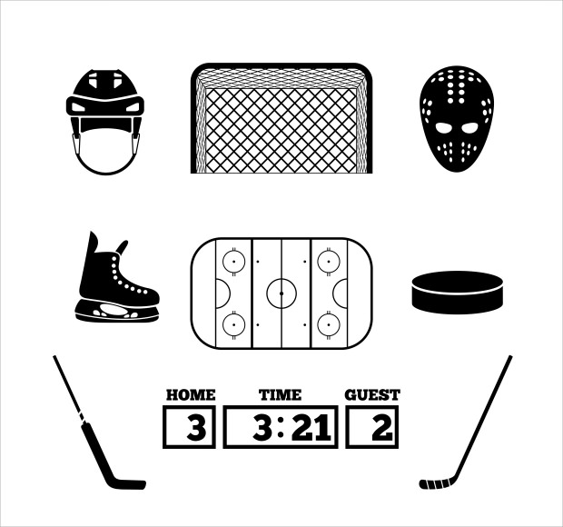 collection of hockey gate icon