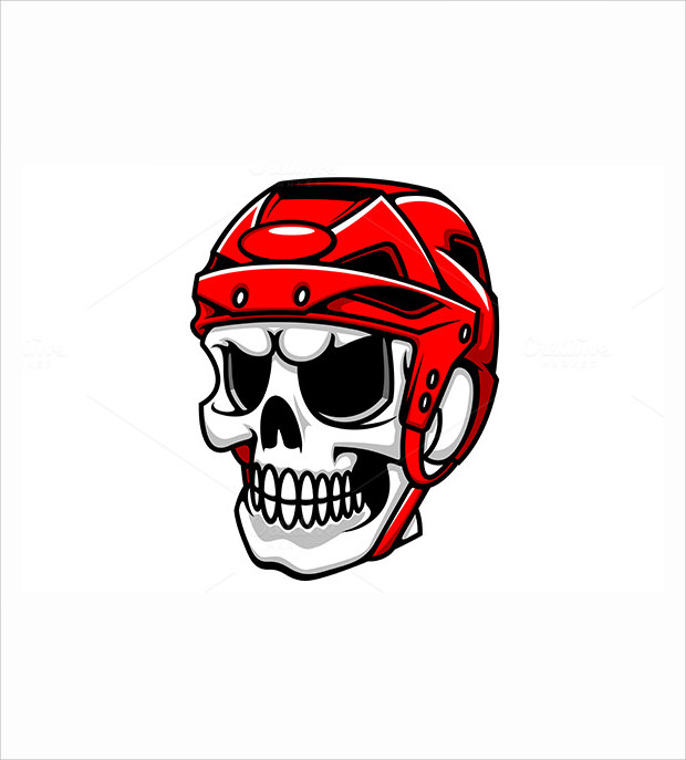 Amazing Skull Hockey Helmet