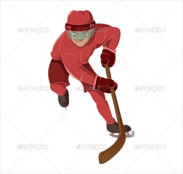 Hockey Player Illistration