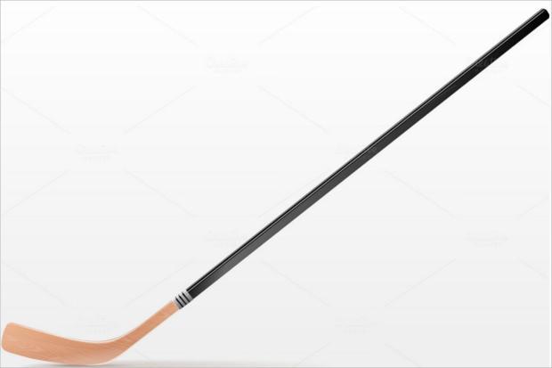 single hockey stick illistration icon1