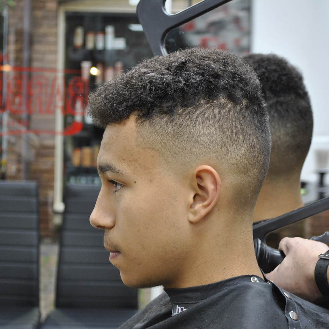Skin Afro Fade Haircut Design