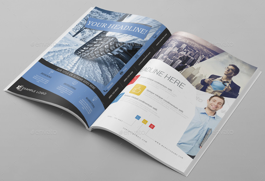 Elegant Magazine Ad Mockup