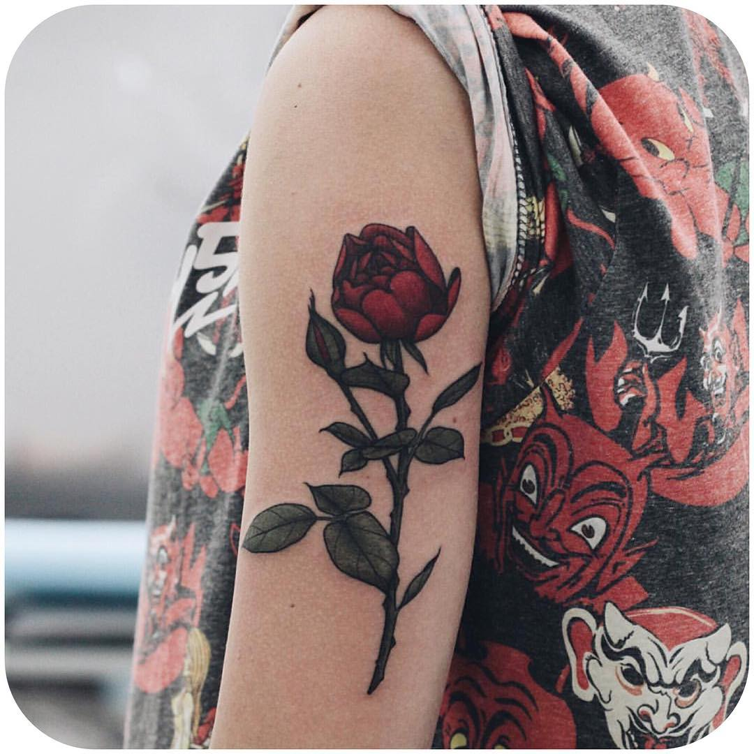 Cool Peony Tattoo Design