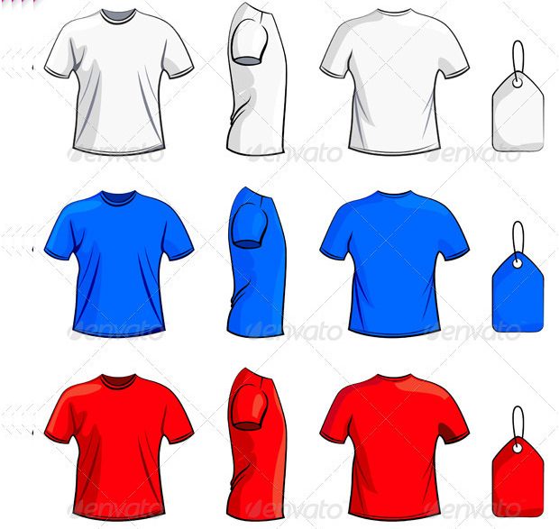 T-shirts Psd Templates