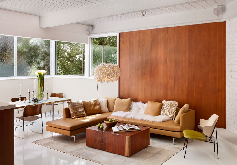 Midcentury living room with nice Plywood furniture design