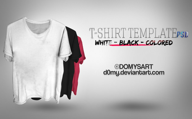 T-Shirt Template Set Free Download