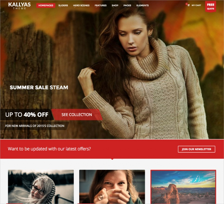 Bootstrap eCommerce WordPress Theme