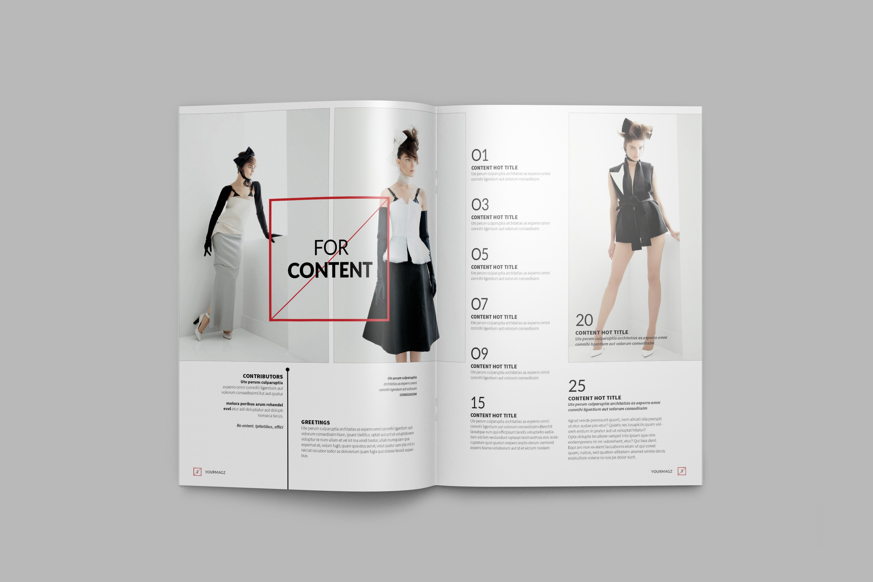 a4 infographic paper mockup