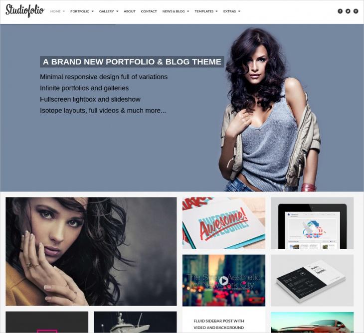 portfolio blog theme