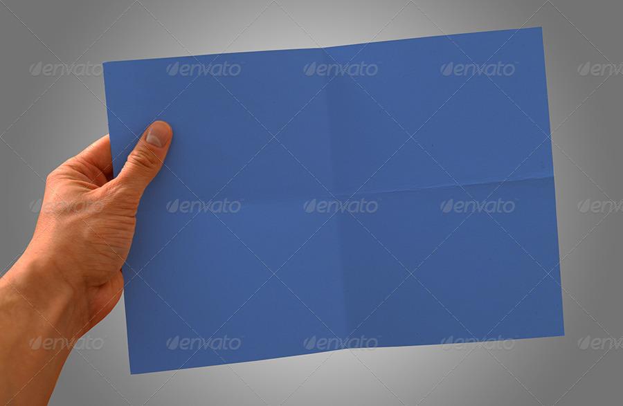 Horizontal A4 Paper Mockup
