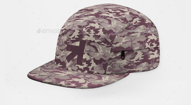 baseball trucker cap mock up