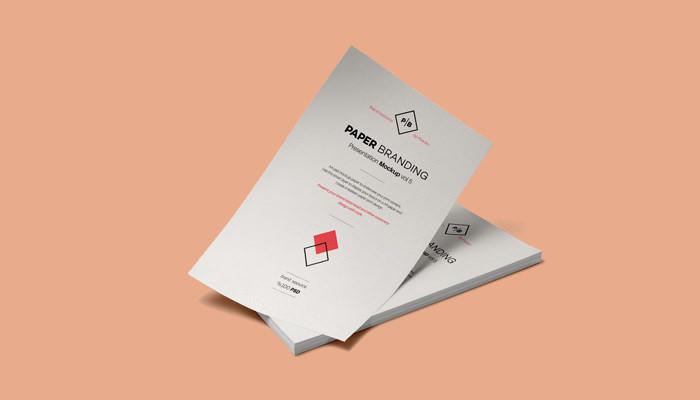 A4 Paper Branding Mockup