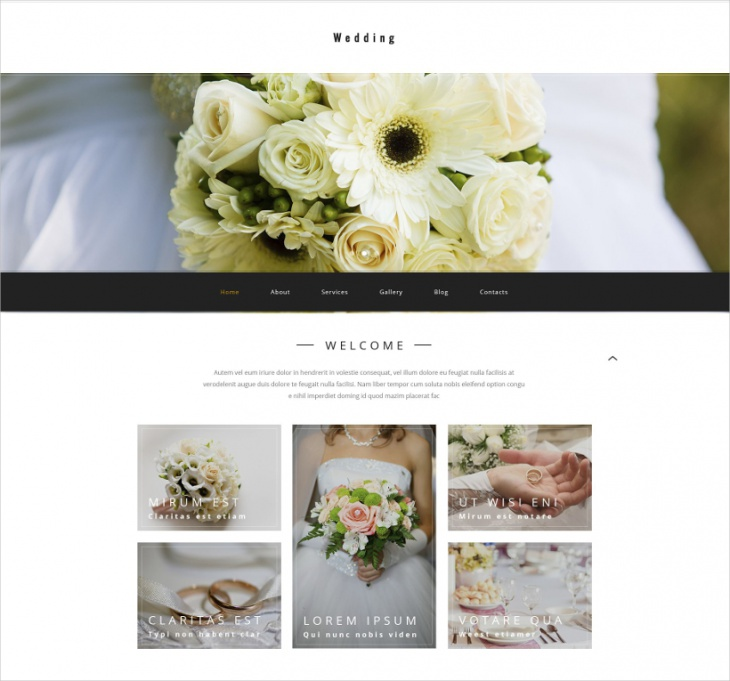 WordPress Wedding Agency Theme