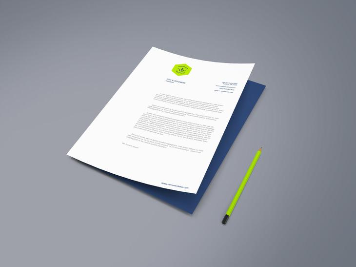 a4 stationary paper mockup