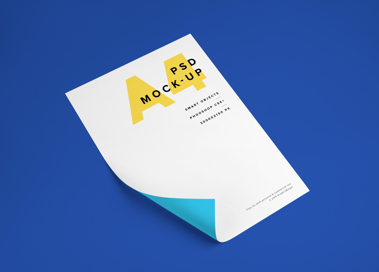 A4 Paper Sheet Mockup