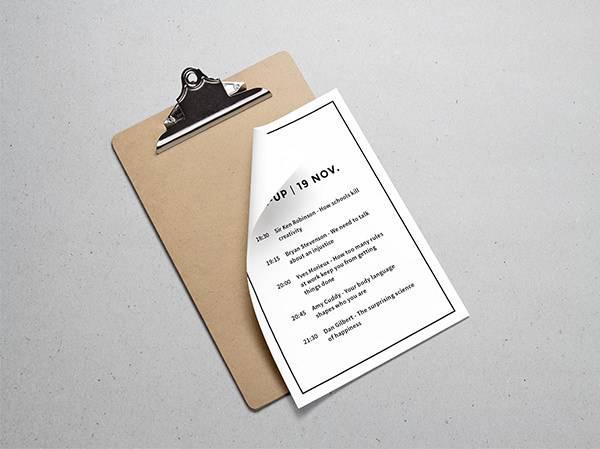 Elegant Paper Mockup PSD