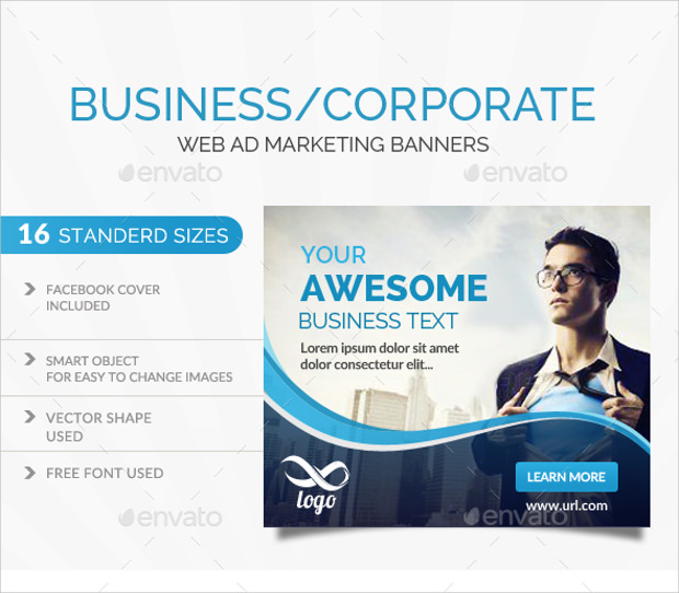15+ Different Sizes Business Banner Templates